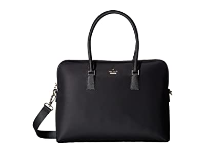 Kate Spade New York 15 Inch Nylon Satchel Laptop Case (Black) Computer Bags