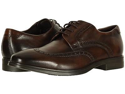 ECCO Melbourne Wingtip Tie (Cocoa Brown) Men