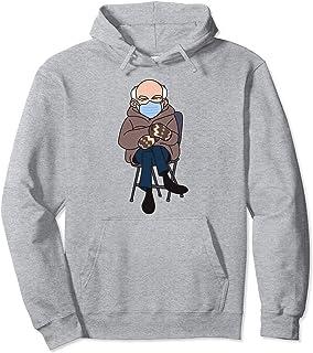 Bernie Sanders Inauguration Day Meme | Bernie Mittens Meme Felpa con Cappuccio