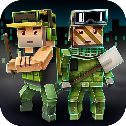 Abandoned Pixel City Exploration: Open World Survival Game   Blocky Zombie Apocalypse Military Survival