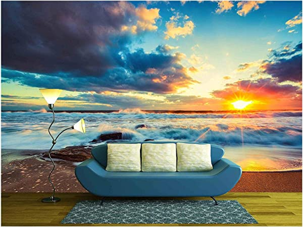 Wall26 Beautiful Cloudscape Over The Sea Sunrise Shot Removable Wall Mural Self Adhesive Large Wallpaper 100x144 Inches