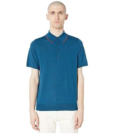 Paul Smith PS Merino Wool Polo (Blue) Men
