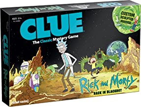 USAOPOLY CLUE: Rick and Morty | Featuring Characters from The Adult Swim TV Show Rick & Morty | Collectible Clue Board Game | Perfect for Rick & Morty Fans