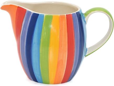 Preisvergleich für Windhorse Rainbow Striped Ceramic Milk Jug (Small) by Windhorse