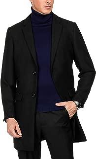 PAUL JONES Mens Premium Winter Single Breasted Notched Collar Overcoat Jacket
