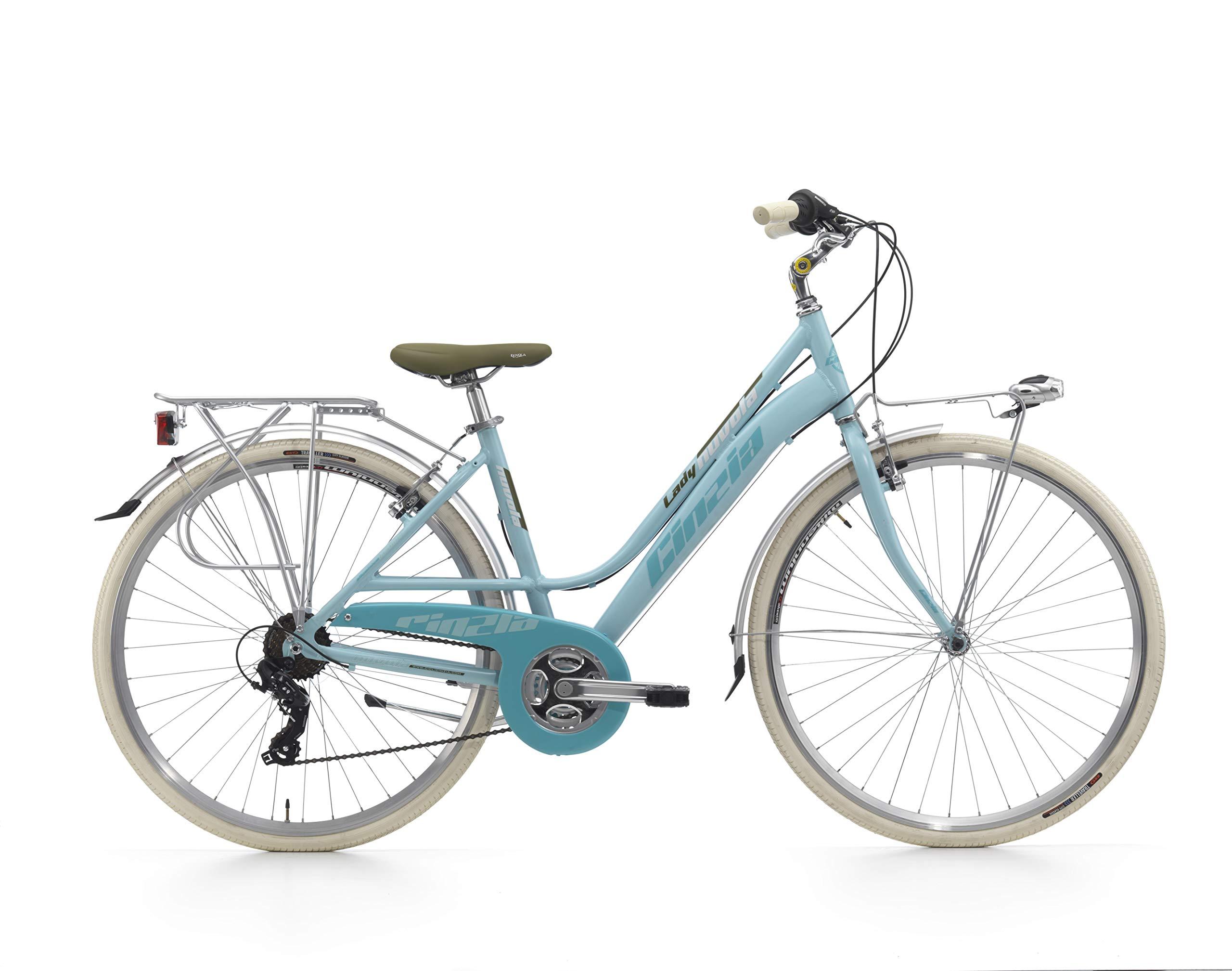 CINZIA Nuvola Bicicleta de Paseo, Adultos Unisex, Azul, M: Amazon ...