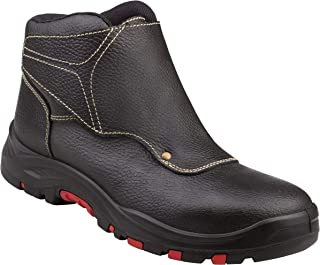 Delta-Plus Panoply Cobra 4 S3 SRC Black Leather Welders Welding Safety Boots PPE