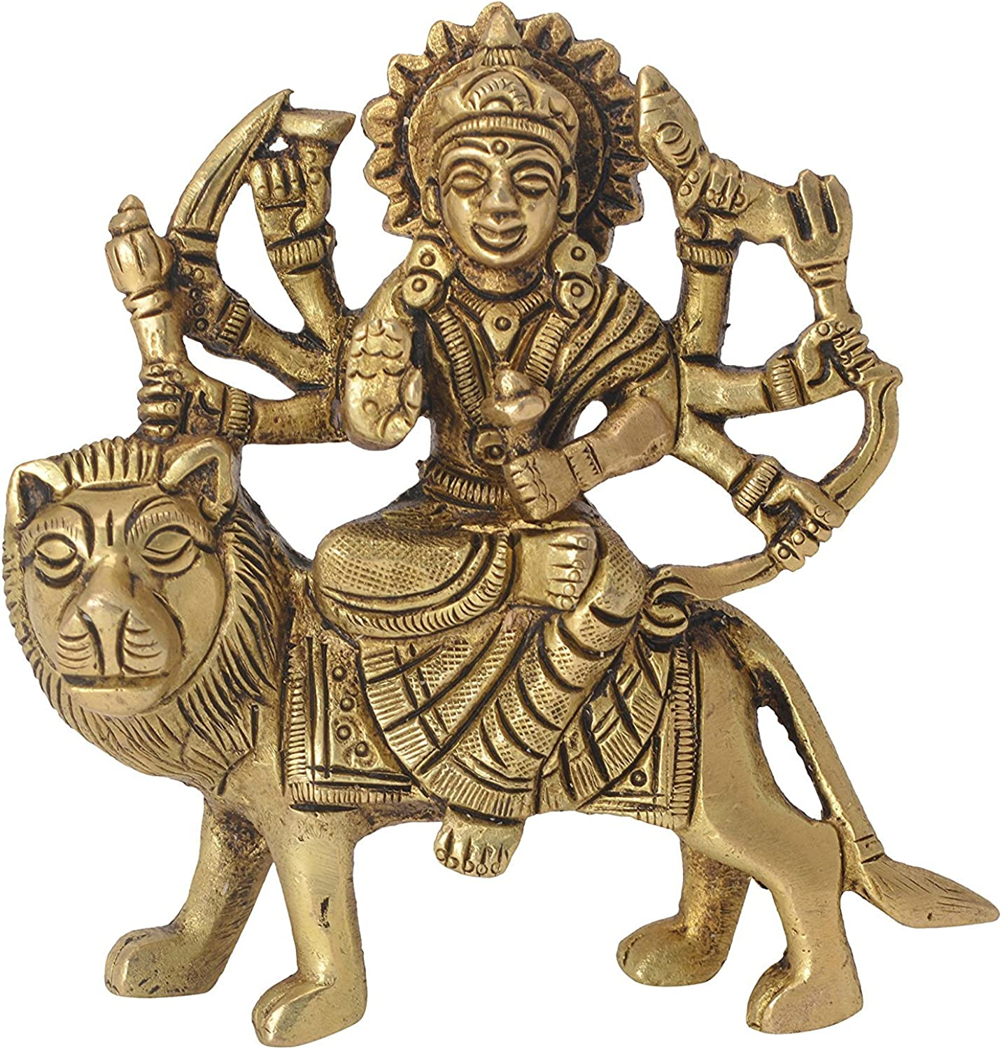 BHARAT HAAT VZI301 Goddess of Ambe Maa Decorative Statue