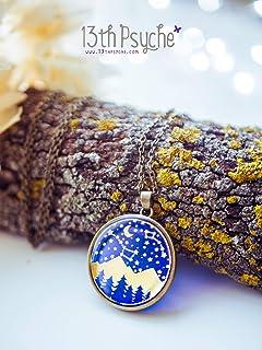 Wanderlust gioielli, collana Stars and Mountain, regalo per gli amanti dei viaggi per le donne, collana di motivazione, gi...