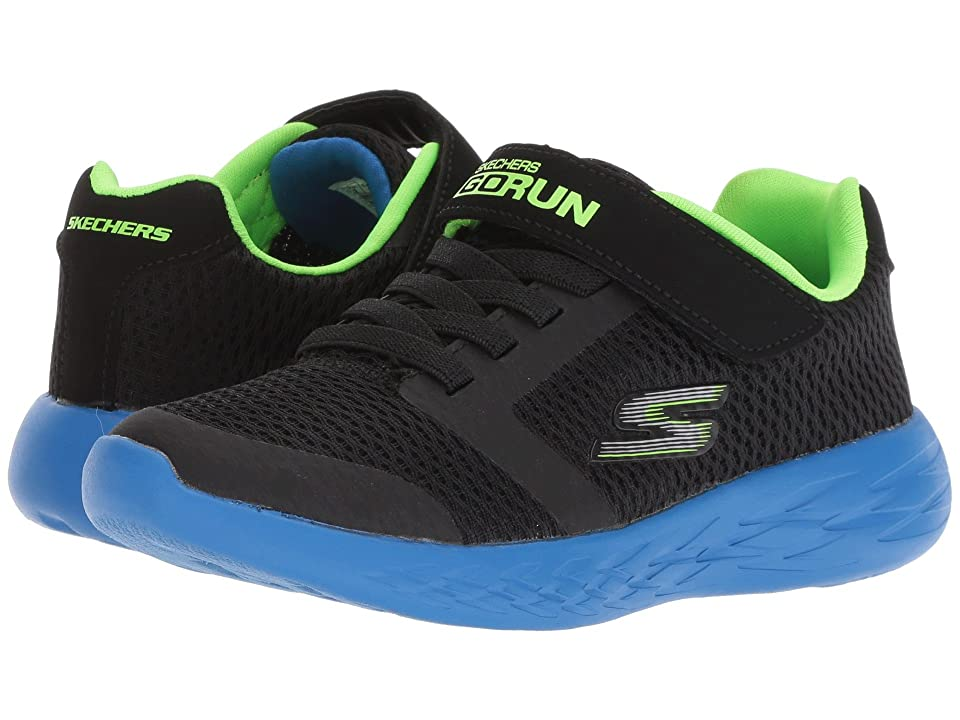 SKECHERS KIDS Go Run 600 (Little Kid/Big Kid) (Blue/Black/Lime) Boy