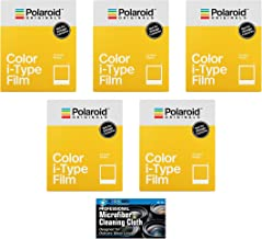Impossible/Polaroid Color Glossy Instant Film for Polaroid Originals I-Type OneStep2 Camera - 5-Pack