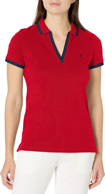 Nautica Women's Stretch Cotton Polo Shirt