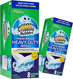(2 Pack) Scrubbing Bubbles, Fresh Brush HEAVY DUTY Refills, 8 ct. ea.