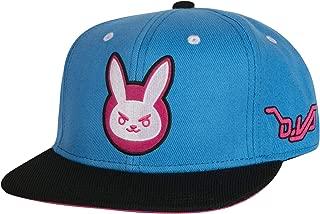 Overwatch D.Va Target Snapback Baseball Hat, Blue/Black, One Size