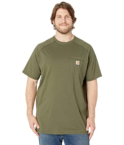 Carhartt Big Tall Force Cotton S/S T-Shirt (Moss) Men