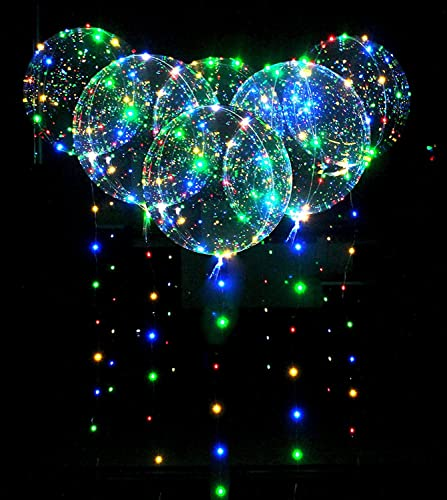 gran venta 50pcs LED Bobo Bobo Bobo Globo Luces Reutilizable Lámparas Decoraciones para Festival Cumpleaños Fiesta Luminoso 18 pulgadas Luces de cadena (50PCS)  entrega gratis