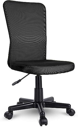 TRESKO Bürostuhl Schreibtischstuhl Drehstuhl, erhätlich in 7 Farbvarianten, mit Kunststoff-Leichtlaufrollen, stufenlos höhenverstellbar,…