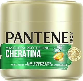 Pantene Pro-V Lisci Effetto Seta Maschera Protezione Cheratina Per 72h di Capelli Lisci e Brillanti in 1 Applicazione, 500ml