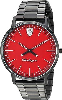 Ferrari Men's 'Ultraleggero' Quartz Stainless Steel Watch, Color:Black (Model: 0830564)