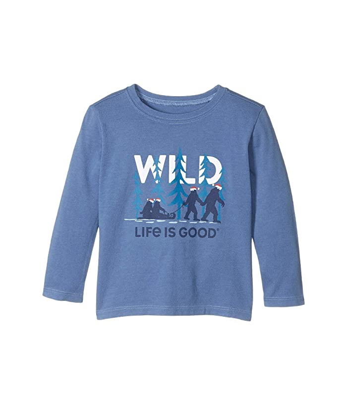 Life is Good Holiday Long Sleeve Crusher T-Shirt Wild Family T