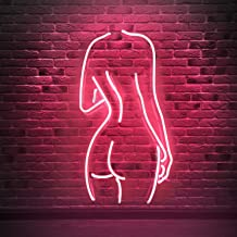 Naked Lady Real Glass Neon Signs, Neon light sign Led Neon Lamp, Wall Sign Art Decorative Signs Lights, Neon Words for Home Bedroom Room Decor Bar Beer Office for Party Holiday Wedding Decoration Sign
