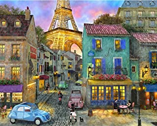 Springbok Puzzles - Eiffel Magic - 1000 Piece Jigsaw Puzzle - Large 30 Inches by 24 Inches Puzzle - Made in USA - Unique Cut Interlocking Pieces