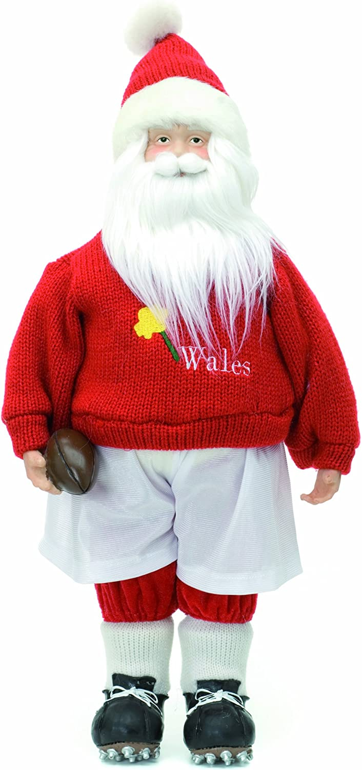 Festive 1 year warranty OFFicial site Plush Welsh Santa Rugby