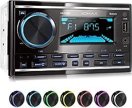 XOMAX XM-2R422 Radio de Coche con Bluetooth I RDS I Am, FM I USB, AUX I 7 Colores de luz Ajustables I 2 DIN