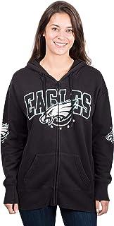 Ultra Game Women`s Full Zip Fleece Hoodie Sweatshirt Banner Jacket
