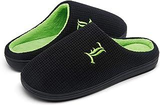 شباشب JOUSEN للرجال من إسفنج الذاكرة داخل المنزل وخارجه حذاء منزلي بلونين للرجال