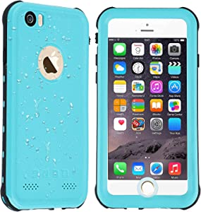 Co-Goldguard iPhone 6/6s Waterproof Case Built in Screen Protector with Touch ID IP68 Certified Underwater Cover Dustproof Snowproof Shockproof Green
