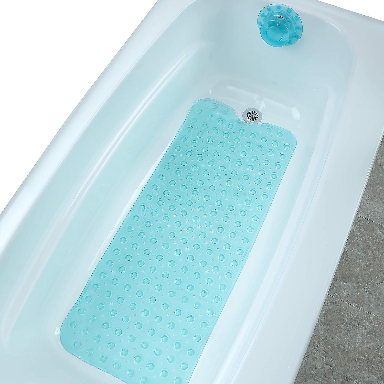 NNAA Bathtub Plug for Overflow 2PCS Bathtub Drain Cover Deeper Bathtub for Women Bathtub Stopper,Blue