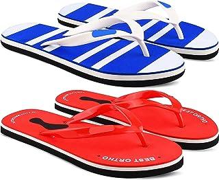 StyleArt Women's Combo of 2 Pair Flip Flops, Blue & Red EVA Slipper for Women, Blended Combination of Luxury Style, Light ...