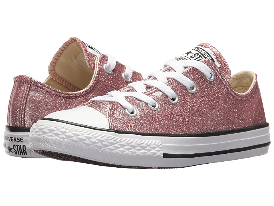 Converse Kids Chuck Taylor All Star Ox (Little Kid/Big Kid) (Rose Gold/Natural/White) Girl