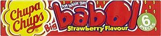Chupa Chups Babol Strawberry Bubble Gum 20 sticks (Pack of 4, total of 80 sticks)