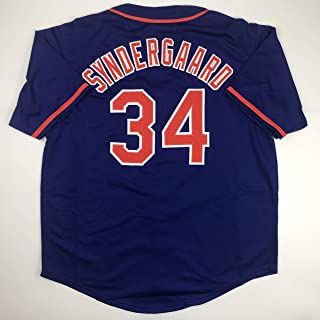 Unsigned Noah Syndergaard New York Blue Custom Stitched Baseball Jersey Size Men's XL New No Brands/Logos