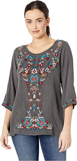 Aya Pullover Scoop Neck Embroidered Top