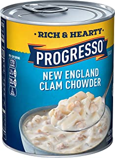 Progresso Soup, Rich & Hearty, New England Clam Chowder Soup, Gluten Free, 18.5 oz Can