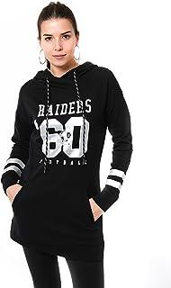 Ultra Game NFL Women`s Tunic Hoodie Pullover Sweatshirt Terry