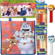 Land of Misfit Toys Christmas Favorites Heat Miser & Snow Miser Figure Pez Heads Bundled with Rudolph The Red-Nosed Reindeer Puzzle & Abominable Snowman Holiday Bag 4 Items