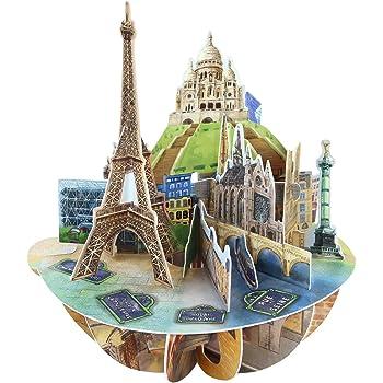 3D París Pop-up Tarjetas de felicitación para cumpleaños Amor Día ...