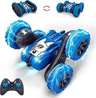 MissCat RC Cars Remote Control Car, RC Stunt Car for Kids 4WD 2.4Ghz Truck & Wheels Convert Interchange 2 in 1 360° Flips Vehicle Outdoor Car Toy for Age 8-12 Gift for Boys Girls