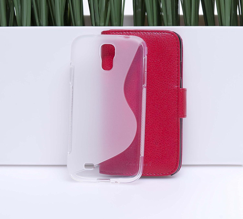 Cadorabo Coque pour Alcatel One Touch Idol S en Semi Transparent Housse Protection Souple en Silicone TPU avec Anti-Choc et Anti-Rayures Ultra Slim Fin Gel Case Cover Bumper