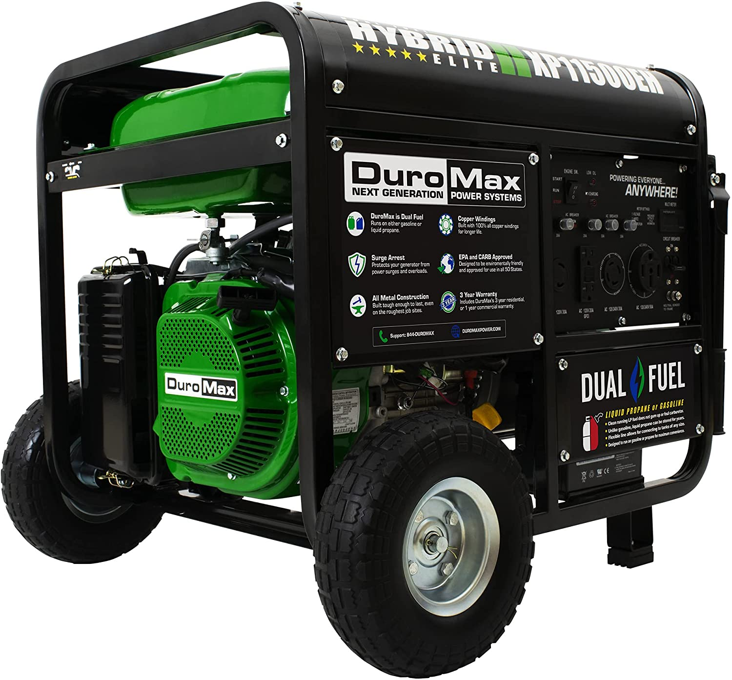 Nashville-Davidson Mall DuroMax XP11500EH Electric Start-Home Back RV Up 50 New popularity Sta Ready