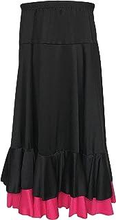 La Señorita Flamenco Rock Kinder Spanische Kleider schwarz rosa 2 Volants