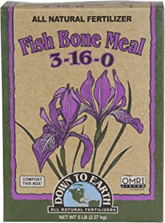 Down To Earth All Natural Fertilizers 07826 Down to Earth Fish Bone Meal-5 lb Fertilizer, Brown