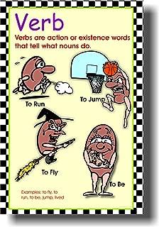 Verb - Classroom Parts of Speech Language Arts Poster