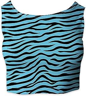 Rainbow Rules Zebra Print Sleeveless Crop Top