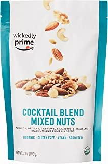 Wickedly Prime Organic Sprouted Mixed Nuts, Cocktail Blend, 7 Ounce