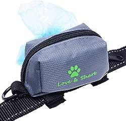 Dog Poop Bag Holder, Dog Waste Bag Dispenser for Leash Attachment - Dog Accessory
